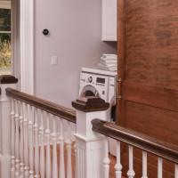 Standard Raised Laundry Nook with Barn Door